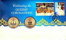 CELEBRATING THE QUEENS CORONATIONS AUSTRALIAN STAMP & COIN-2013 $1 COIN PNC-BNIP