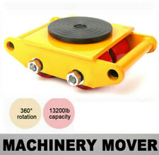 More details for heavy duty machine dolly skate machinery roller mover cargo trolley 6 ton