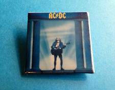 Vintage 1980's AC/DC Who Made Who Rock Music Heavy Metal Hat Jacket Lapel Pin A