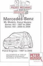 MERCEDES POCKET MECHANIC CAR MANUAL  PETER RUSSEK ML PETROL SERIES 163 164