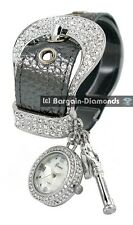 ladies USA western ice out buckle designer-style fashion charm watch key lock