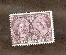 Canada  Scott  57 Queen Victoria Jubilee Issue.10 Cents. Used.  #02 CAN57