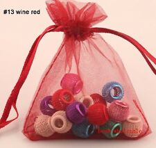 Hot 30/100Pcs Pure Organza Voile Wedding Pouch Gift Or Jewelry Storage Bags