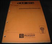 Werkstatthandbuch Peugeot 405 Geschwindigkeitsregelung Tempomat März 1993