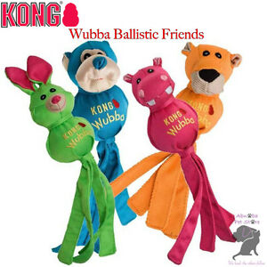 Kong Wubba Ballistic Friends Four fun characters Dogs & Puppies Chew & Throw Toy