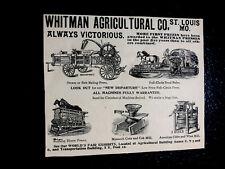 1893 Whitman Agricultural Co Farm Advertising - St. Louis - Missouri