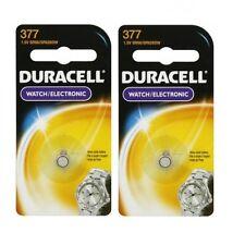 2 x Duracell 377 376 AG4 SR626SW SR626 LR626 LR66 Silver Oxide Watch Battery