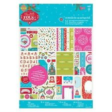 DOCRAFTS PAPERMANIA FOLK CHRISTMAS ULTIMATE A4 DIE CUT & PAPER PACK