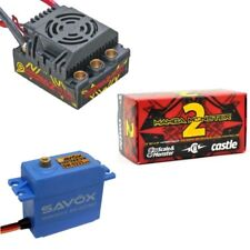 Castle Creations 1/8 Mamba Monster 2 25V WP ESC + Savox 0231MG Servo
