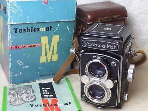Yashica-Mat M TLR 120 Film  Yashinon 80mm f/3.5  Copal-MVX Shutter + CASE