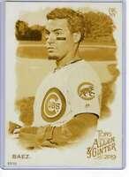 Javier Baez 2019 Allen and Ginter 5x7 Gold #19 /10 Cubs