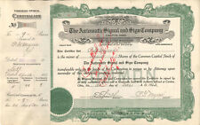 Automatic Signal Sign > P. G. Myers > 1922 Canton Ohio old stock certificate