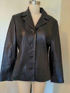 Petite Sophisticate Ladies Very Soft Leather Jacket Blazer Size M
