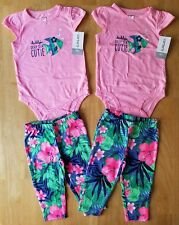 Identical Twins Baby Girls Clothes, 2 Outfit Sets, Size 9 Months, Carter's brand