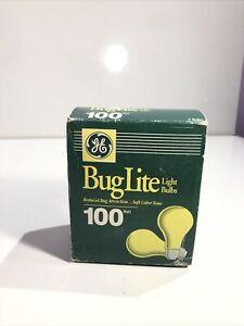 VINTAGE GE 100 WATT YELLOW BUG LITE 2 PACK.