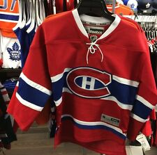 Montreal Canadiens Age 8-12 NHL Hockey Jersey Home Red Youth Reebok S/M Logo