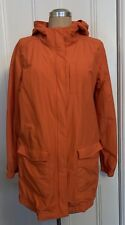 BNWOT EILEEN FISHER TIGER ORANGE ORGANIC COTTON COAT ANORAK LINED + HOOD M 14