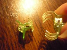 * Set of tiny baby/dog/doll butterfly hair clips * iridescent green/pe