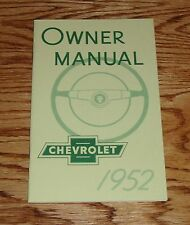 1952 Chevrolet Owners Operators Manual 52 Chevy