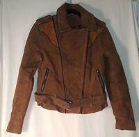 Men Chocolate Brown Soft Suede Leather Denim Style Western Trucker Summer Jacket