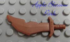 NEW Lego Minifig COPPER NOTCHED SWORD - Castle Troll Scimitar Minifigure Weapon