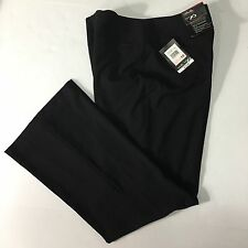 Rafaella Black Ergofit Shape Balance Dress Career Pant Flat Front Womens Size 10
