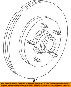 FORD OEM Front Brake-Disc Rotor YL3Z1102AA