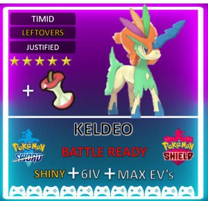 Pokemon Sword & Shield Shiny 6IV Keldeo! MAX EV 6IV! BRAND NEW! Cobalion cosmog