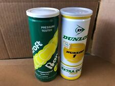 Vintage Cans Of Bancroft And Dunlop Can Of Tennis Balls Sealed