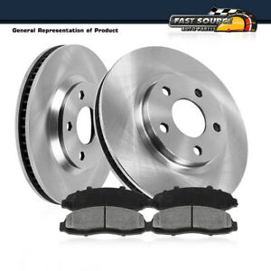 For Jeep Cherokee XJ Wrangler TJ Front OE Brake Disc Rotors And Metallic Pads