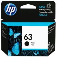 HP #63 Black Ink Cartridge 63 F6U62AN 4512 4516 4520 3830 4650