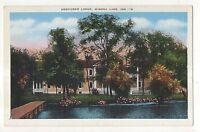 Kosciusko Lodge, WINONA LAKE IN Vintage Indiana Postcard