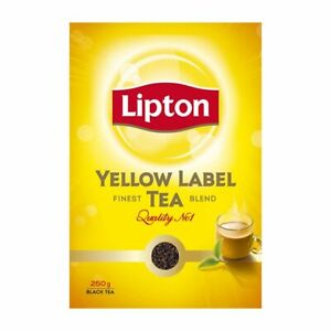 Lipton Yellow Label Tea,250g Powder,Black Tea,World's No.1Tea Brand,Finest Blend