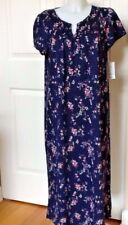 Croft & Barrow Knit Cotton Blend Short Sleeve Navy Nightgown Plus Size 4X