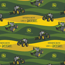 Nothing Runs Like a John Deere Hills 100% Cotton fabric by the yard