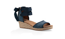 UGG  AUSTRALIA AMELL WEDGE SANDALS  MARINO BLUE  SIZE 6 NEW IN BOX