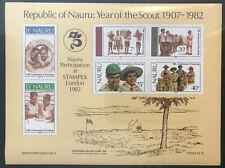 Nauru 1982: 75 Jahre Pfadfinder und STAMPEX London 1982 (Michel: Block 5)