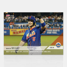 2018 DAVID WRIGHT NY METS CAPTAIN OVATION 1st AB SINCE 2016 TOPPS NOW CARD #800
