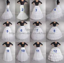 Crinoline Jupon Slips Cerceaux Robe De Mariée De Mariée Taille Régulière Blanc