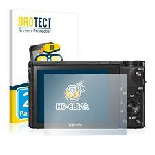 2x BROTECT Displayschutzfolie Klar für Sony Cyber-Shot DSC-RX100 V Schutzfolie