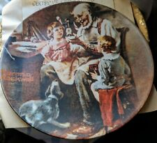 Norman Rockwell The Toy Maker Collector Plate. First limited edition
