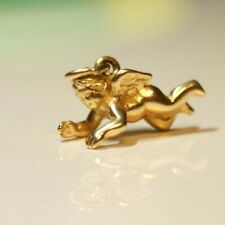 *Retired & Unique* James Avery 14k Gold FLYING BABY ANGEL Charm Pendant