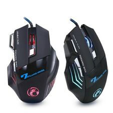Wired Gaming Computer Mouse 7 Button 5500 DPI For Gamer Player PC Laptop LED X7