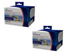 2 Mediarange Remanufactured Canon PGi5BK CLI5 BK C M Y ink cartridge MRCP5C8 set
