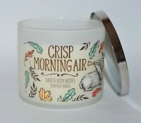 NEW BATH & BODY WORKS CRISP MORNING AIR SCENTED CANDLE 3 WICK 14.5 OZ LARGE