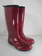 "Kamik ""Ellie"" Knee High Burgundy Waterproof Rubber Rain Boots Sz 8-M"