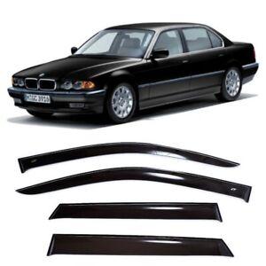 For BMW 7 (E38) Sd 1994-2001 Window Visors Side Sun Rain Guard Vent Deflectors