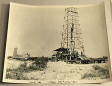 Vintage Original Black White Photograph 1947 Spencer Kent Crane No1 Oil Derrick