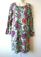 NEW NWOT WOMEN'S LULAROE FLORAL POLKA DOT LONG SLEEVE STRETCHY DRESS SIZE 2XL
