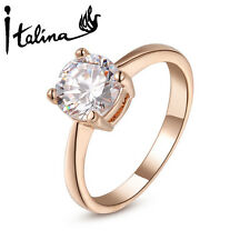 18K Rose Gold Plated Rings With Austrian Crystal Stellux Good Quality